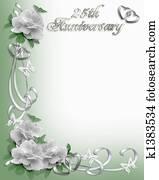 25th Anniversary invitation Border