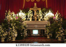 Catholic funeral service