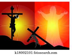 esus crucifixion and resurrectio