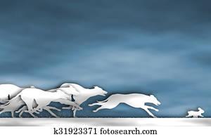 Greyhound race cutout