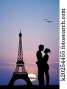 kissing in Paris