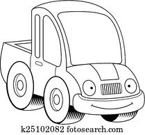pickup truck clip art illustrations 3 568 pickup truck clipart eps 4 Wheel Drive Chevy Trucks smiling cartoon pickup truck