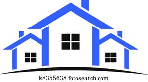 Houses logo in blue