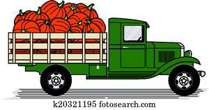 kürbis, lastwagen