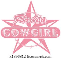 Rodeo cowgirl clip art