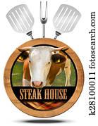 Steak House - Wooden Symbol