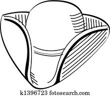 colonial clip art vector graphics 871 colonial eps clipart vector Mop Hat Pattern tricorn colonial hat clip art