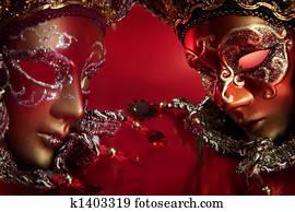 ornate carnival masks