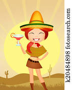 Funny Mexican girl