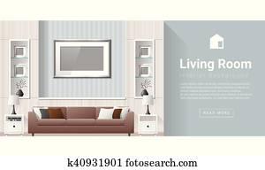 Interior design Modern living room background 2