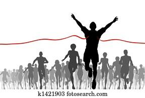 マラソン イラストギャラリー 1000 マラソン アート Fotosearch