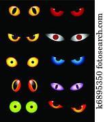 Animal eyes set