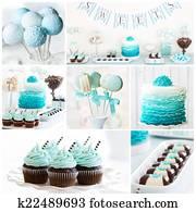Dessert table collage