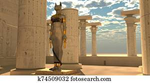 Egyptian God Bastet Statue