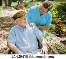 Elderly Patient and Nurse