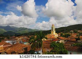 Trinidad cityscape, cuba