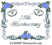 25th Wedding Anniversary Border