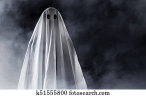 Ghost on smoke background