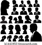 Simple Silhouette People Portraits