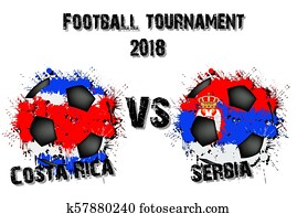 56e5afd0282 Football kit of Costa Rica 2018 Clipart   k62480740   Fotosearch