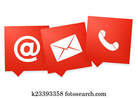 Contact us icon one color symbol design