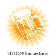 Vector. Beer tankard