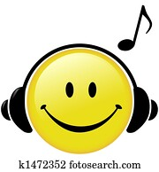Happy Music Headphones Musical Note