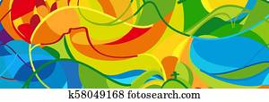 Olympic and Paralympic Games Brazil Rio Summer abstract banner