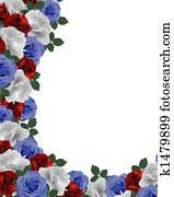 Patriotic Wedding Roses border