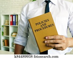 The manager offers a Policies and procedures book.