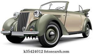 European prewar luxury convertible