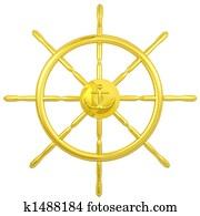 gold navy wheel
