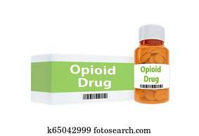 Opioid Drug concept