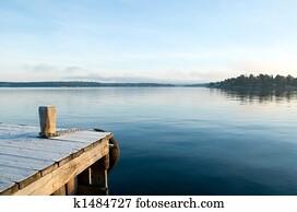 View over a calm lake