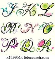 Alphabets Elements J-R