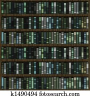 Library Books Background