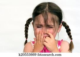 Little girl cry