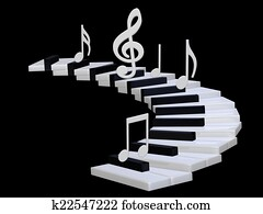 3d Piano stairway