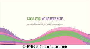 Abstract background colorful website header