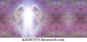 Angel Wings and Light Banner