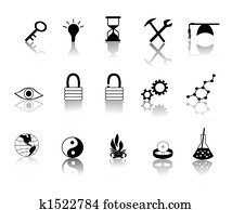 Black over White Miscillaneous Icons