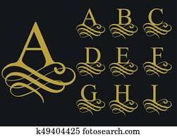 Alphabet Artistique banque d'image - artistique, lettre, apparence, texture, forme