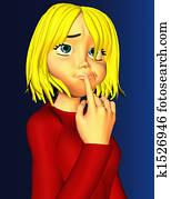 Cartoon Teen Girl