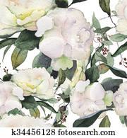 flowers watercolor pattern