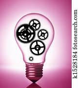gears in a light bulb