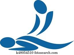 heilbad, therapeutisches, logo, concept.