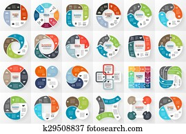 Vector circle infographics. Template for cycle diagram, graph, presentation and round chart. Business concept with 4 options, parts, steps or processes. Data visualization.