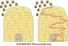 Beehive maze