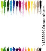 Color paint splashes