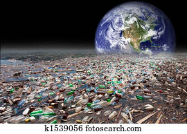 earth sinking in pollution